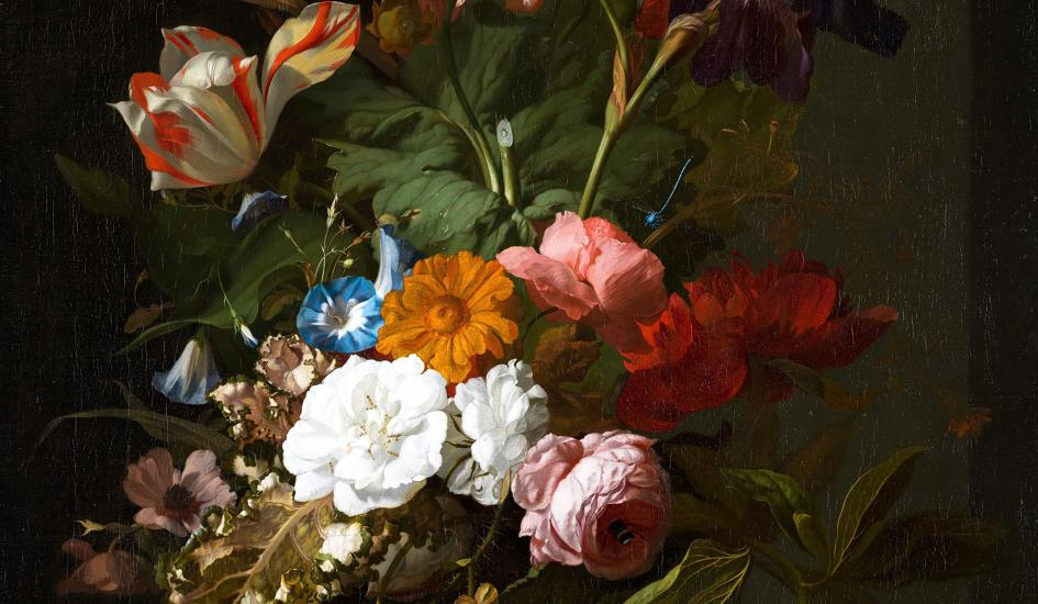 Rachel Ruysch, Vase with Flowers, 1700, oil on canvas
